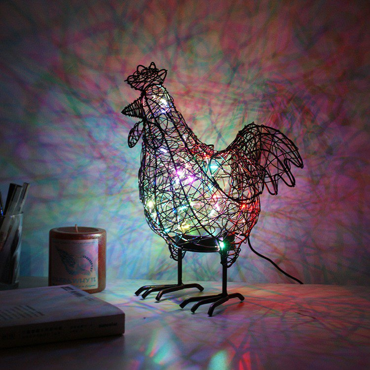 【4U4U】 sunny chicken shape lighting Golden Rooster Wire Lights