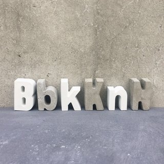 Handmade cement letters