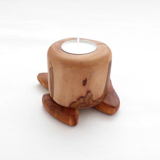 Apple Tree Handcrafted Rustic Viking Medieval Folk Art Tealight Candleholder