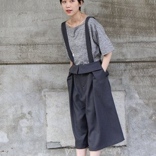 Clothing Valley rose gray shoulder strap pants