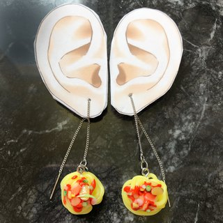Japanese Clay Earrings Hero Spaghetti hanging earrings
