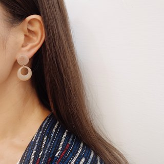 Retro Circle - Draped Earrings (A Pair) [Changeable Ear Clips]