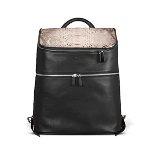 STORYLEATHER Spot Style 6433 Mang & snakeskin leather backpack after aniline