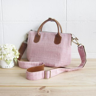 Cross-body Sweet Journey Bags S size Hand Woven and Botanical Dyed Cotton.