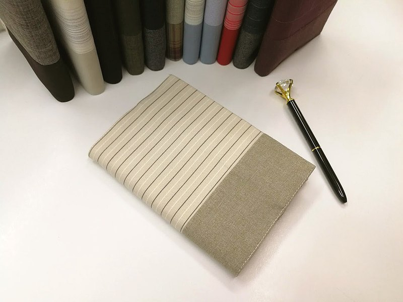 Exquisite A6 cloth book cover ~ light khaki (only product) B04-063