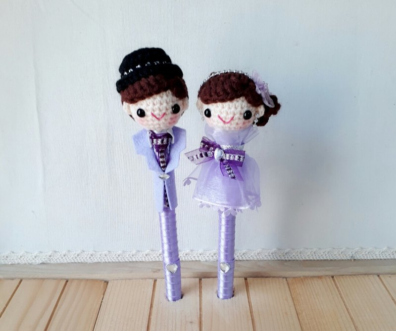 Violet dress paragraph yarn new wedding signature pen