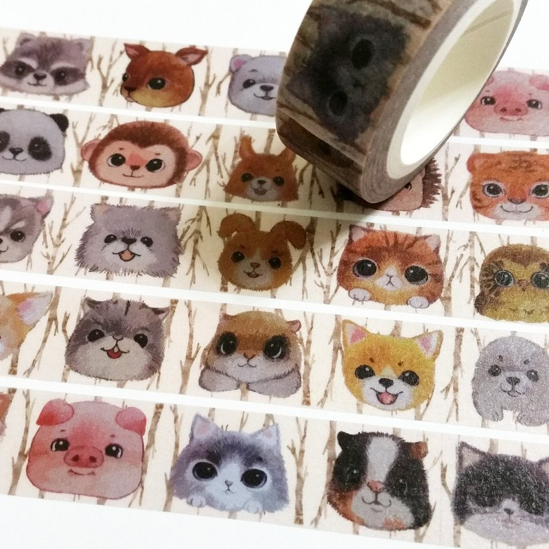 Masking Tape Cute Little Animals