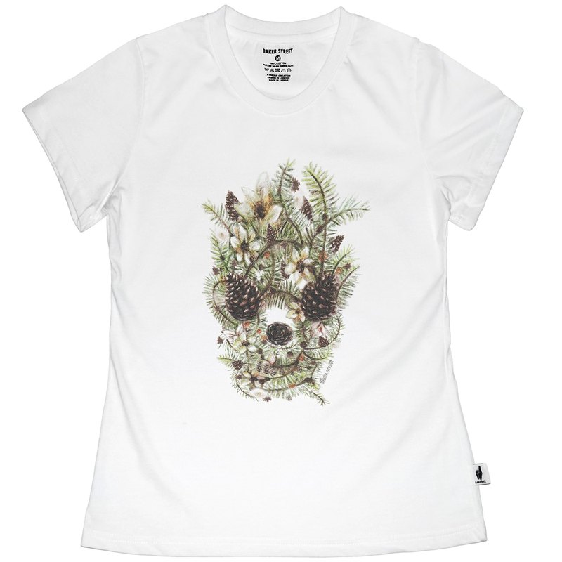 British Fashion Brand [Baker Street] Hazelnut Skull Printed T-shirt