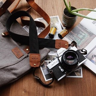 Black Denim Camera Strap