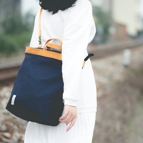 Canvas three-style backpack