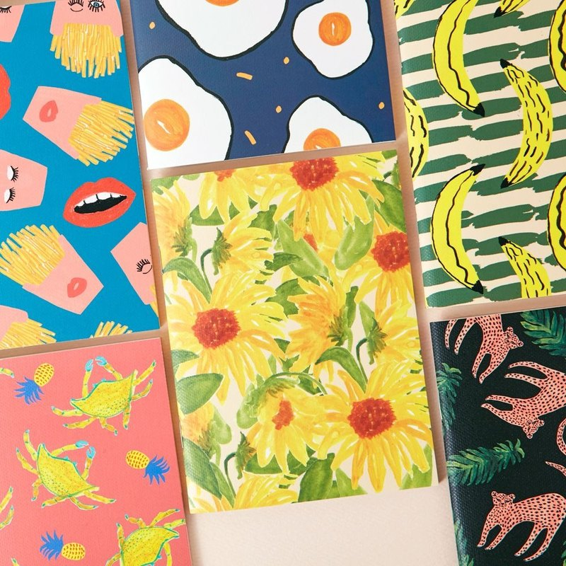 7321Design-BBH Joint Striped Notebook S-Sunflower, 7321-87578