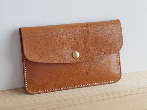 Leather passbook (Existent) case Camel