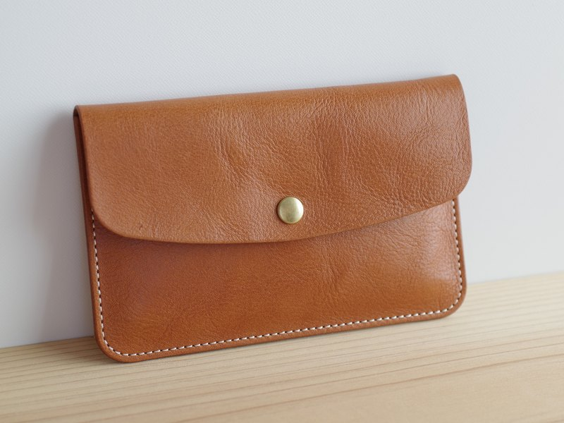 Leather passbook(存折)case Camel