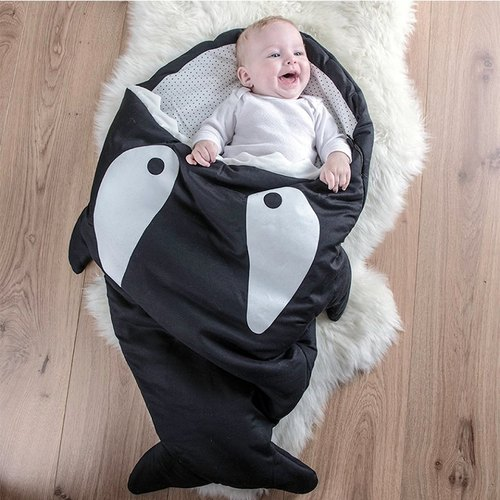 [Made in Spain] (Lightweight version) Shark bites babyBites Spanish hand-made 100% cotton baby/toddler sleeping bag | kick-proof quilt |