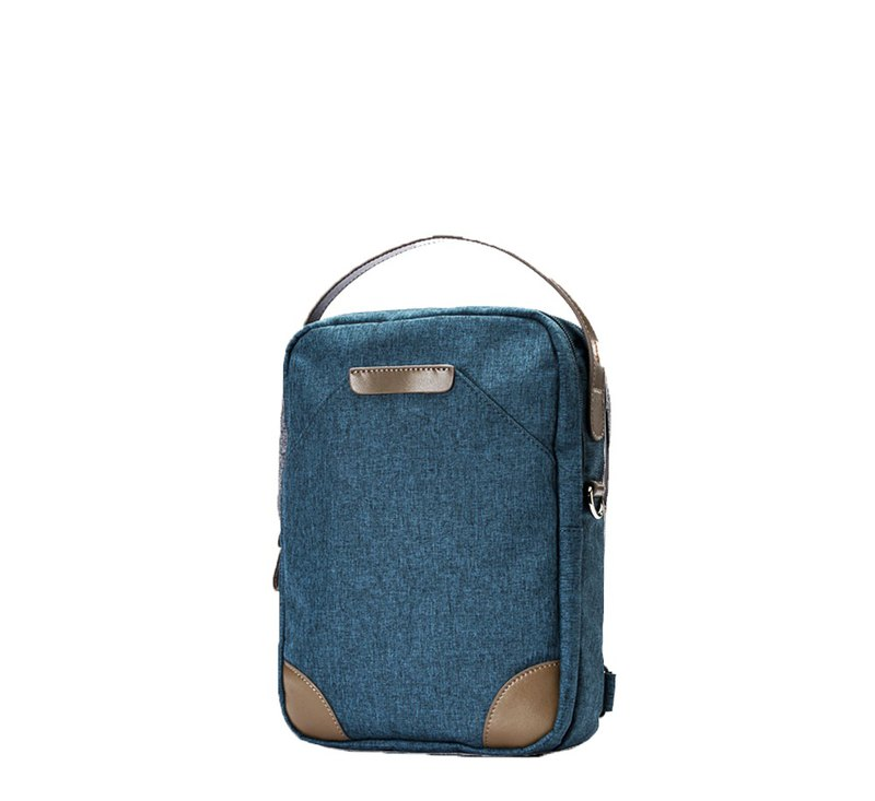 Amore Aeglady Walker Series Light Business Traveler Three Shoulder Bag Gray Blue Green