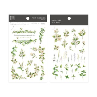 [Print-On Stickers] | Flower Series 35 - Mint Jasmine |