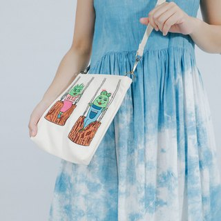Embroidery Across-body Bag in Rectangle Shape  I Just Can't Take My Eyes Off You