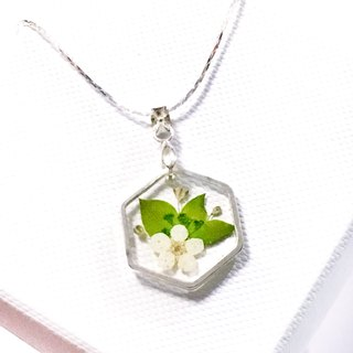 Ultra Thin Hexagon Necklace - Greeny