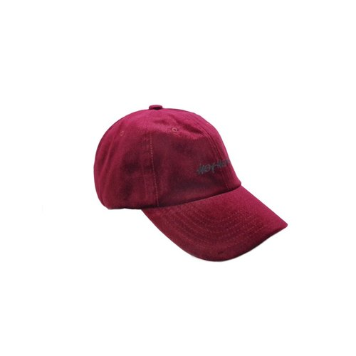 HOT HEART velvet old hat - burgundy