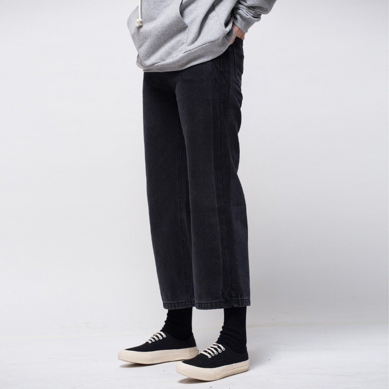 Black jeans female loose pants
