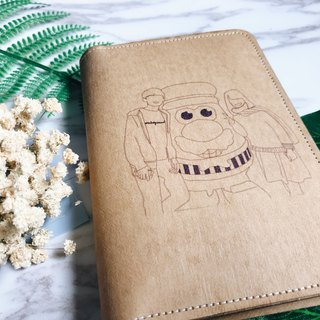 Customized Portrait Painting Washed Kraft Passport Cover