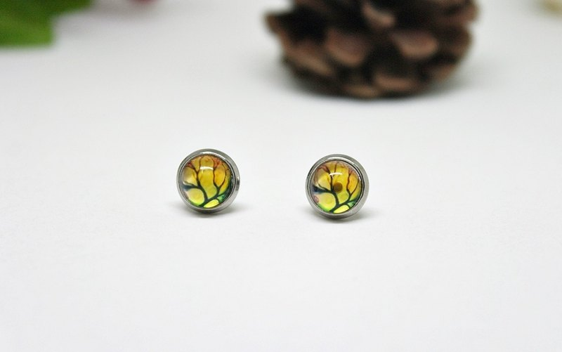Time gemstone earrings * X stainless steel needle withered * ➪ Limited X1