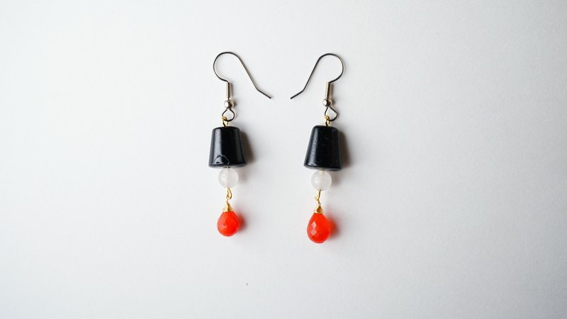[Both] small hand-made X guess no natural stone earrings