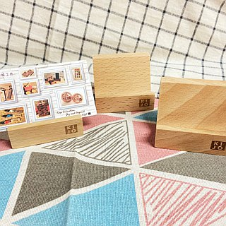 Log wooden business card holder - 桧木 (6cm) - buy 4 get 1 free group