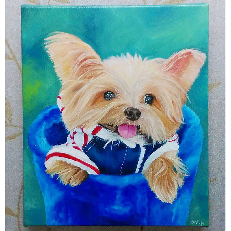 Custom pet oil painting size 3 size