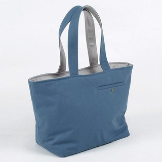 Chinese blue tailor pocket tote bag - last one