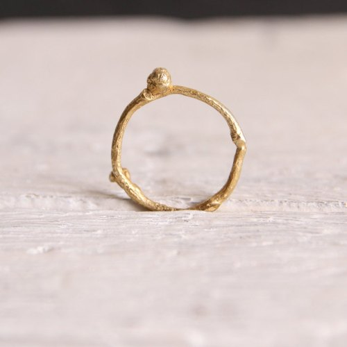 Gold Branch 925 Silver 24K gold plated elegant simplicity Sen female fresh and natural beauty branches superimposed ring original design hand-made Valentine's Day romantic minimalist Christmas birthday wedding gift | ancient Greek original design lost