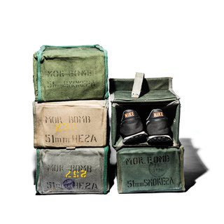 VINTAGE EQUIPMENT BOX military wind multi-function storage box