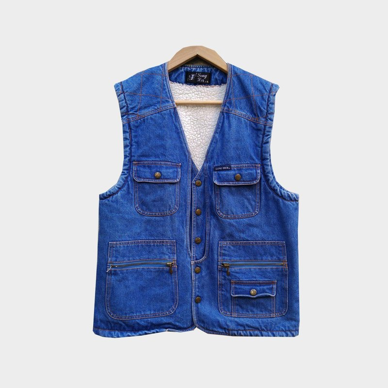 Dislocation vintage / pocket cowboy lamb vest no.A85 vintage