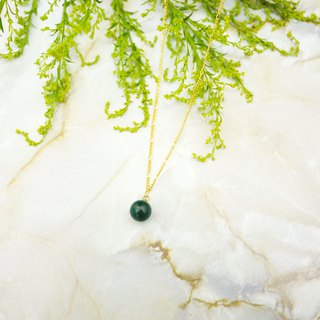 Autumn and winter simple green horse long necklace