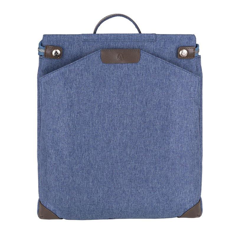 Walker | 兩用後背包 | 灰藍 | 文青 | 防水 | 防盜包 | 畫家包