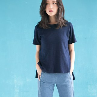 Denim Knit Tshirt Blue Tshirt Front Short and Long Design
