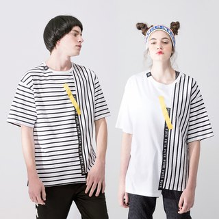 UNISEX MIX AND MATCH T SHIRT / Black / White