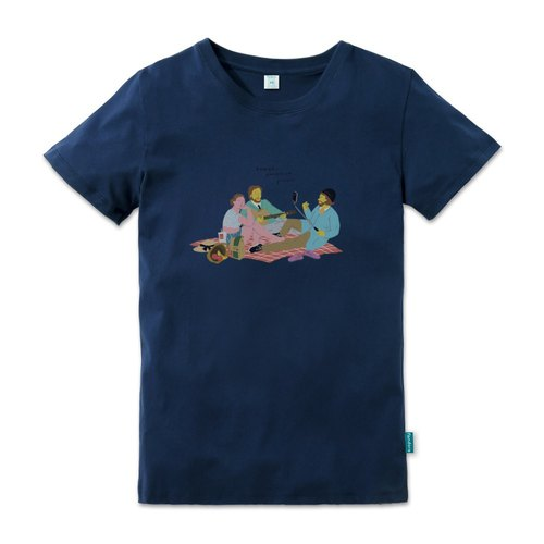 2017 World Music Festival limited T-shirt - Breeze Grasslands Picnic blue male version