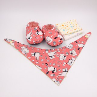 Scarf Animal Foundation - Miyue Baby Gift Box (toddler shoes / baby shoes / baby shoes + 2 handkerchief + scarf)