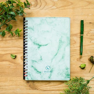 Love wind dust A5 marble sliding clip loose-leaf (paper 1.0 - pen for paper) - green