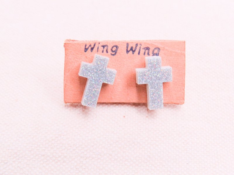 Cross, stainless steel earrings