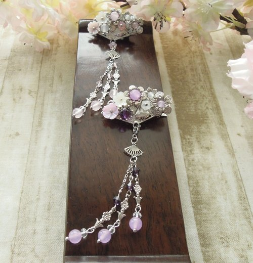 """Yun Yun Ge - Kam makeup"" purple version of the classic style of Chinese style hair clip"