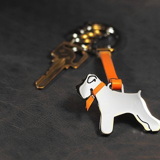 [Loveit] model stainless steel leather key ring - dog / cat