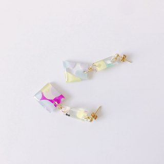 Summer Sea Festival Series - Purple Bell Wind Chime Draw Hand-painted Earrings Earrings / Ear Clips