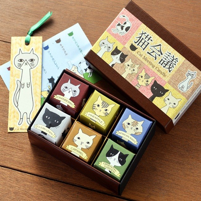 Cat meeting (6 pieces aroma candles)
