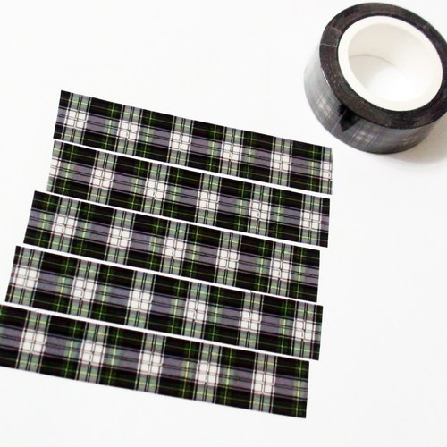 Masking Tape Winter Plaid Fabric
