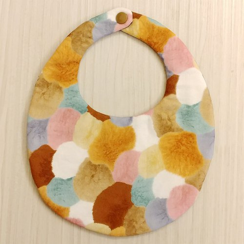 Coffee fur ball double-sided pocket / Mi Yue gift Christmas gift exchange gifts
