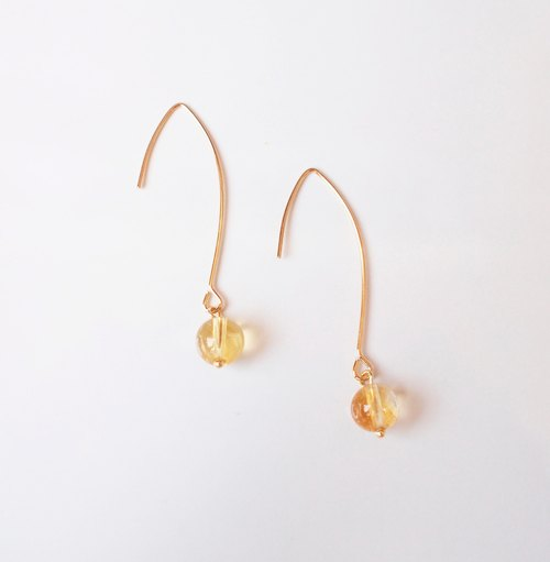 Citrin earrings 黃水晶耳環