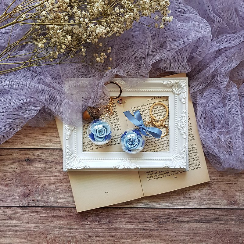 Mori Flower Keychain_Ocean Blue_2021.5 Mother's Day Teacher's Day Girlfriends Visiting Gift