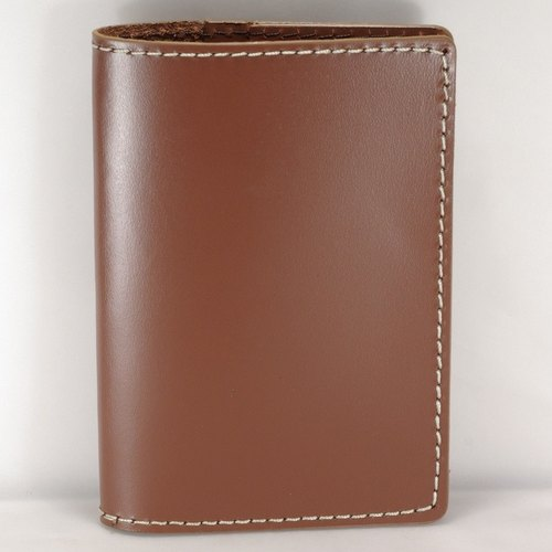 Classic leather brown leather passport holder - a bold line